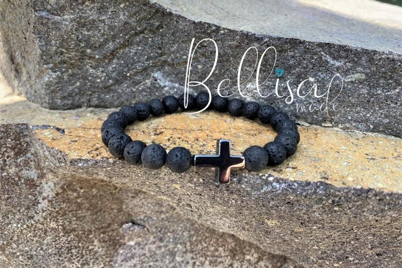 Čierna láva + krížik